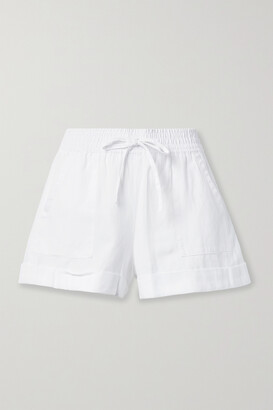 Alice + Olivia - Tencel Lyocell, Linen And Cotton-blend Shorts - White