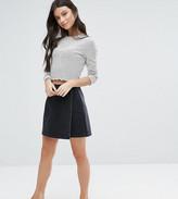 Asos Denim Wrap Skirt in Washed Black