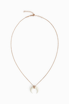 Jacquie Aiche Pave Diamond Bone Horn Necklace
