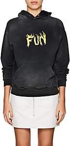 "Givenchy Women's ""Fun"" Cotton Hoodie - Black"