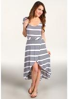 Splendid Capri Stripe Maxi Dress (Pearl) - Apparel