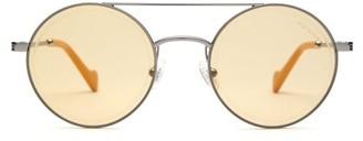 Moncler Eyewear - Round-frame Metal Sunglasses - Mens - Silver