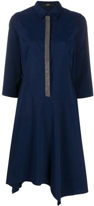 Steffen Schraut shimmer placket shirt dress