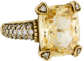 Judith Ripka 18K Canary Crystal & Diamond Lola Ring