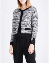 Claudie Pierlot Contrast-trim tweed cardigan