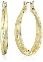 "Napier ""All Ears 2.25"" Gold-Tone Layered Hoop Earrings"
