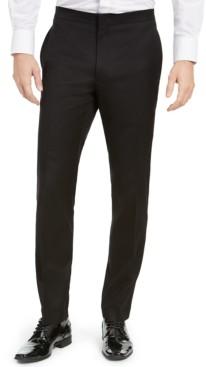 Alfani Men's Slim-Fit Stretch Black Tuxedo Pants, Created for Macy's