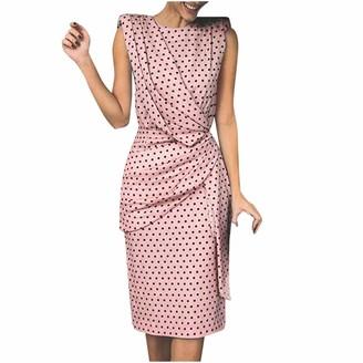 Kalorywee Dresses Twist Midi Pencil Dress in Polka Dot