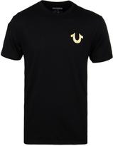 True Religion Black Metallic Gold Buddha T-shirt