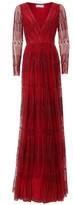 Amanda Wakeley Embroidered Lipstick Dress