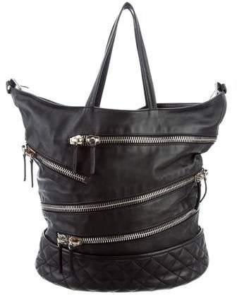 Giuseppe Zanotti Leather Zip-Accented Bag