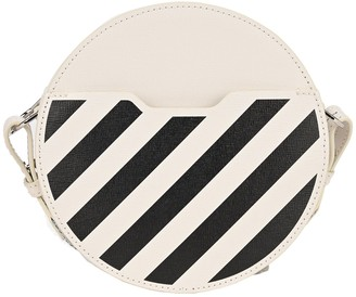 Off-White Diagonal Print Round Crossbody Bag