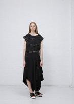 J.W.Anderson black fluid crepe dress