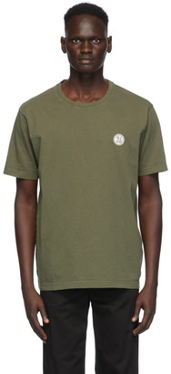 Nudie Jeans Green Uno NJCO Circle T-Shirt