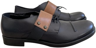 Non Signã© / Unsigned Black Leather Lace ups