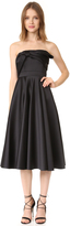 Cynthia Rowley Strapless Tea Length Dress