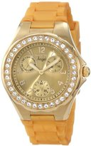 Invicta Women's 1650 Angel Crystal Accented Yellow Dial Watch