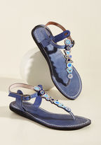ModCloth Front Porch Festive Leather Sandal in 41