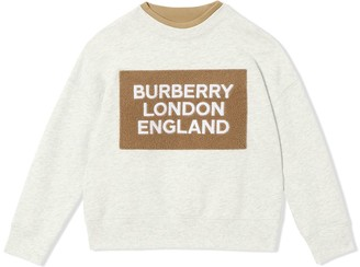 BURBERRY KIDS Logo Detail Jersey Sweatshirt