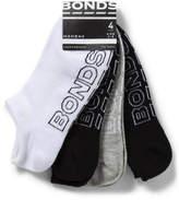 Bonds Logo Light No Show Four Pack