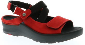 Wolky Nubuck Leather Sandals - Lisse