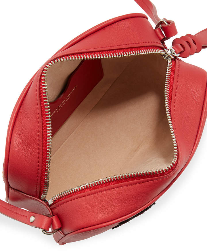 Alexander McQueen Small Leather Camera Bag, Red Pattern