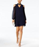 Xscape Evenings Petite Cold-Shoulder Choker Dress