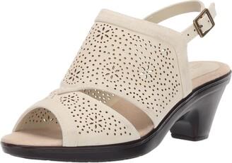 Easy Street Shoes Women's Linda Slingback Dress Casual Sandal with Cutouts Heeled