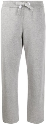 Thom Browne Straight Leg Sweatpants In Compact Double Knit Cotton With 4 Bar Twill Drawcord