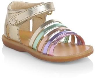 Naturino Baby's, Little Girl's & Girl's Metallic Rainbow Leather Sandals
