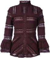 Cinq à Sept lace panelled blouse