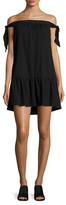 BCBGMAXAZRIA Cotton Loose Off Shoulder Mini Dress