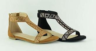 The Divine Factory Women's Lyne Ankle Strap Sandals