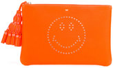 Anya Hindmarch Smiley clutch - women - Leather - One Size