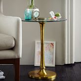 west elm Molded Brass Side Table