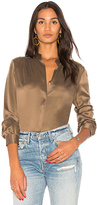 L'Agence Bianca Blouse in Brown