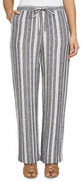 Chaus Bohemian Bloom Striped Linen Pants
