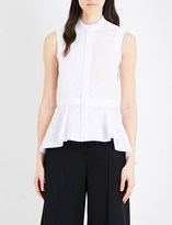 Alexander McQueen Sleeveless cotton-poplin shirt