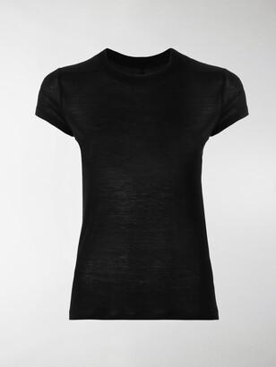 Rick Owens round neck sheer T-shirt