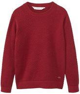MANGO Boys Textured Cotton Sweater