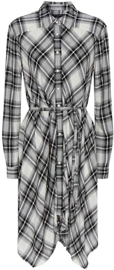 AllSaints Tala Check Print Shirt Dress