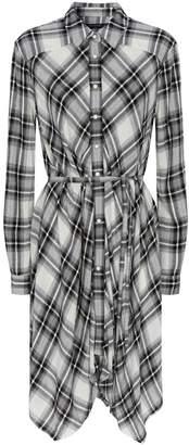 AllSaints Tala Check Print Shirt Dress