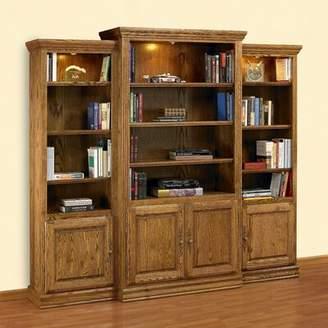 A&E Wood Designs Britania Heirloom Oversized Set Bookcase A&E Wood Designs