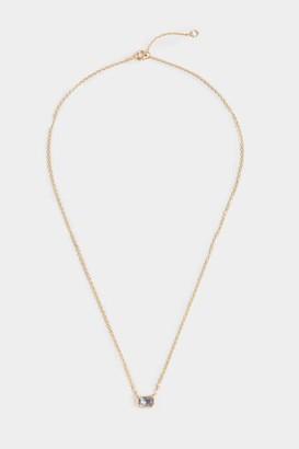 francesca's Lizbeth Baguette Pendant Necklace - Light Blue