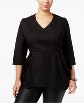Melissa McCarthy Trendy Plus Size Peplum Top
