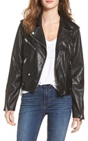 Vigoss Women's Faux Leather Moto Jacket