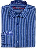 Robert Graham Boys' Stripe Button Down Dress Shirt - Sizes S-XL
