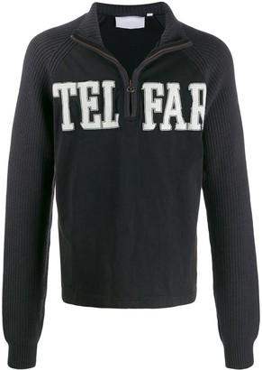 Telfar zip-up logo sweatshirt