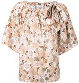Chloé floral print T-shirt - women - Cotton - 36