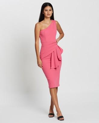 Mossman - Women's Pink Midi Dresses - My Imagination Dress - Size 10 at The Iconic